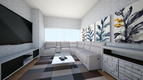 Airy Cloud Family Room - Minimal - Living room  - by mcv123me
