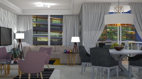 Peony - Living room - by aletamahi