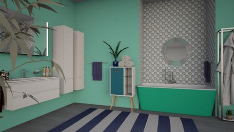 Nautical Bathroom - Bathroom  - by AnxhelaN