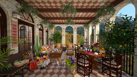 Mexican Patio - Garden  - by lydiaenderlebell