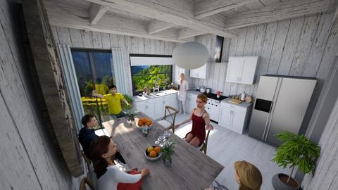 rustic kitchen - Kitchen  - by victoriakandy