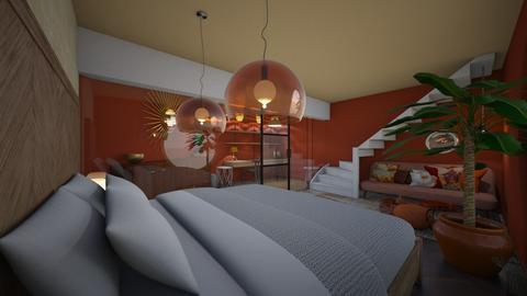 Warm explosion PinkOrange - Country - Bedroom  - by Carline1992