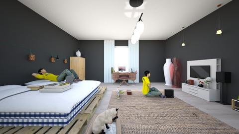 exam - Modern - Bedroom - by waad3333
