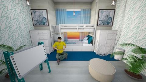 beach house_kids room - Modern - Kids room  - by floofus
