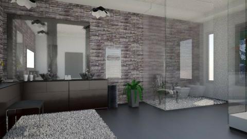 Bathroom_black  - Modern - Bathroom  - by Gre_Taa