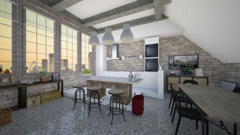 Industrial kitchen - Kitchen  - by Lizzy0715