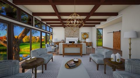rustic room - Living room - by nuray kalkan