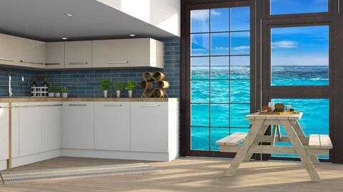 Ocean Kitchen 2 - Modern - Kitchen  - by CitrusSunrise