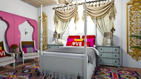 Sleeping in India Colours - Bedroom  - by matina1976