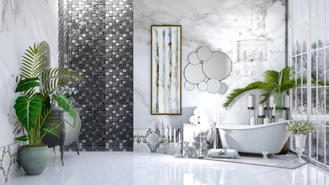 Silver and Marble - Bathroom  - by Feeny