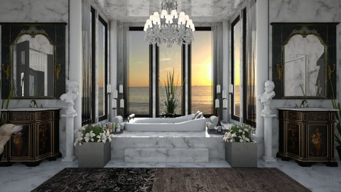 Design 301 Luxury Marble Bath - Bathroom  - by Daisy320