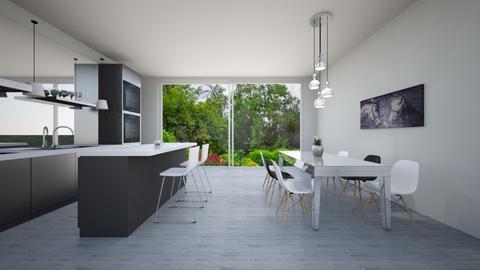 modern kitchen diner - by hannahlaing