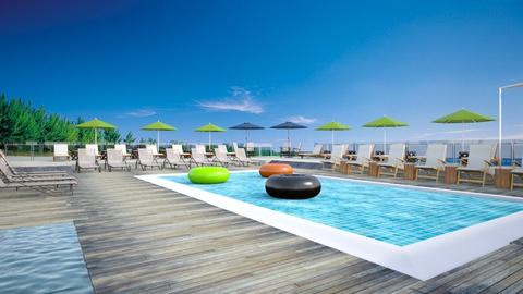 Beach club pool - by Amyz625