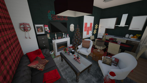 Christmas Journey - Living room - by AlexKarm