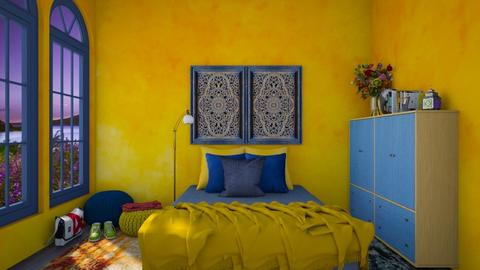 india colours - Bedroom  - by daydreamer84