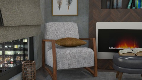 fireplace corner - Living room  - by mayssa ltf