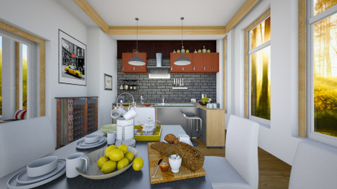 Open Kitchen Color 2 - Modern - Kitchen - by pachecosilv