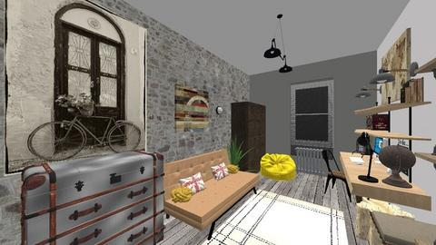 Industrial - Rustic - Bedroom - by Kerry F