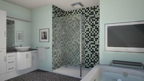 Minty Minimalism - Minimal - Bathroom  - by Theadora