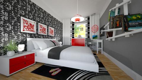Teen Bedroom - Eclectic - Bedroom  - by Theadora2