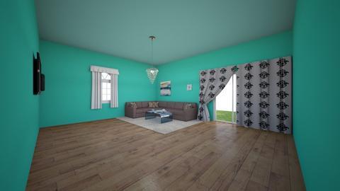 Aqua Green Living room - Living room  - by IlI805