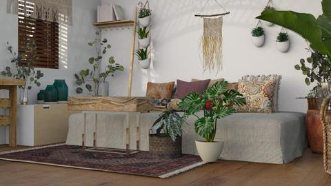 Boho Style - Bedroom  - by Naima A