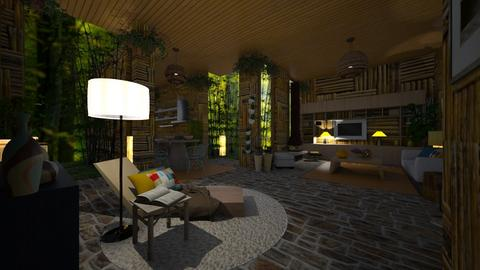 13 - Rustic - Living room  - by rosanebpf
