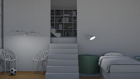 neat white kids room - Modern - Kids room  - by matildabeast