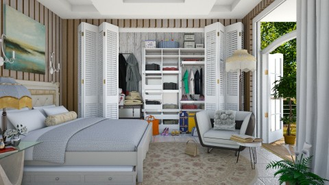 a practical bedroom  - Eclectic - Bedroom  - by Ida Dzanovic