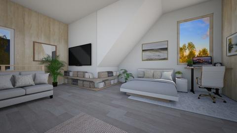 Bedroom Attic - Rustic - Bedroom  - by Dragonets of Destiny