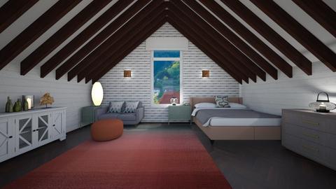 second floor - Rustic - Bedroom  - by kat1016