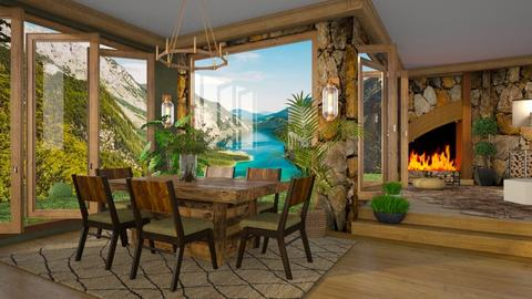 Big Windows - Rustic - Dining room  - by ZsuzsannaCs