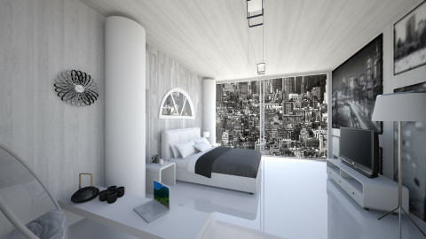 MoodyManhattan Hotel Room - Modern - Bedroom - by LoukArt