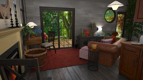 Retreat to the woods - Rustic - Living room  - by Veeveenatyisy