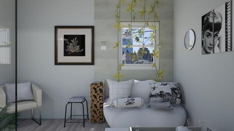 White and black room - Classic - Living room  - by Half l left hand l Right