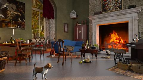 Jan Steen - Living room  - by smunro7