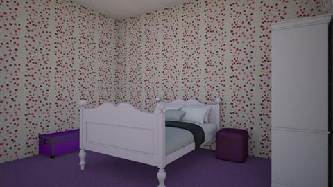 Pink and Purple bedroom - Bedroom  - by amar4k