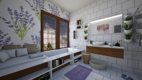 LAVENDER - Bathroom - by DanielaIoanaEnescu