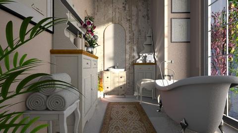 shabby chic bathroom - Bathroom  - by BortikZemec