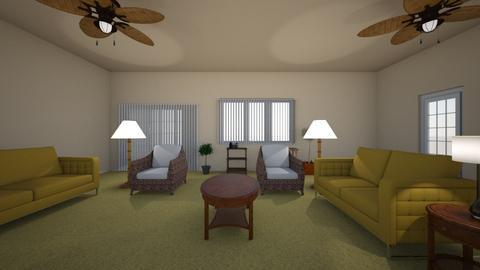 Tropical Room 02 - Living room  - by WestVirginiaRebel