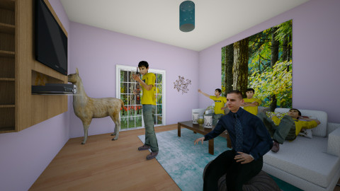 Alberto hang out join now - Living room - by christmas llamaberto kwaii