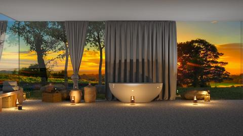 Bathroom at sunset - by iope