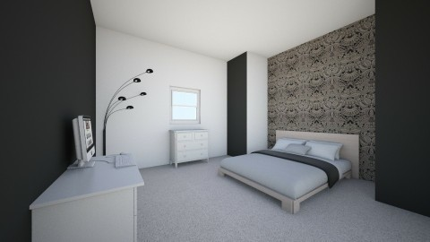 Black n white girls room - Retro - Bedroom  - by Tayla2201