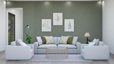 Modern green Living - Modern - Living room  - by yellowAri