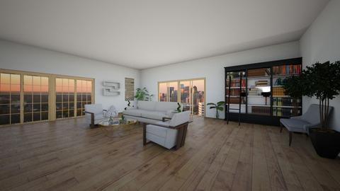 big windows - Modern - Living room  - by hellotimetoslay