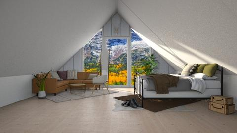 Attic room - Bedroom  - by Destiny Michelle