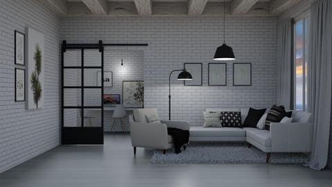 Minimalist living room - Living room  - by Victoria_happy2021