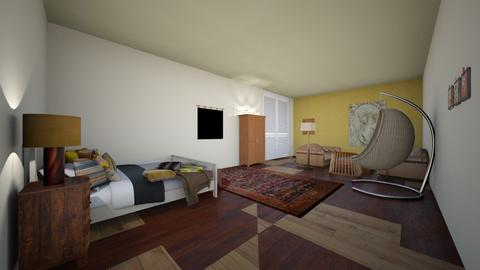 boho room - Rustic - Bedroom  - by moocowqueen005