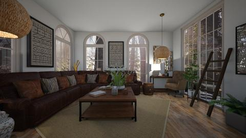 Wooden Forest - Rustic - Living room  - by deleted_1603315438_TokyoScare