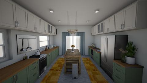 Mama E Kitchen - Rustic - Kitchen  - by zoe128